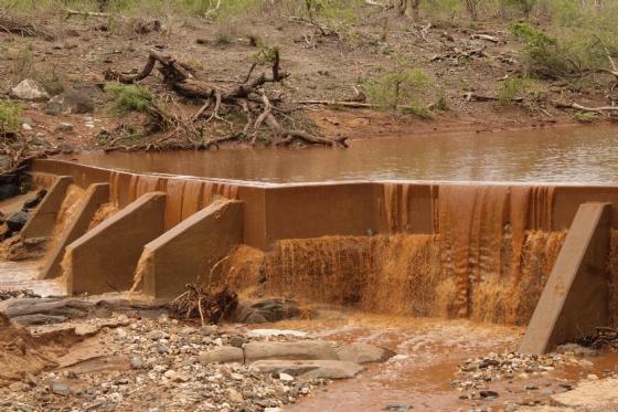 Overflowing Ndlovu Dam by Graham B2