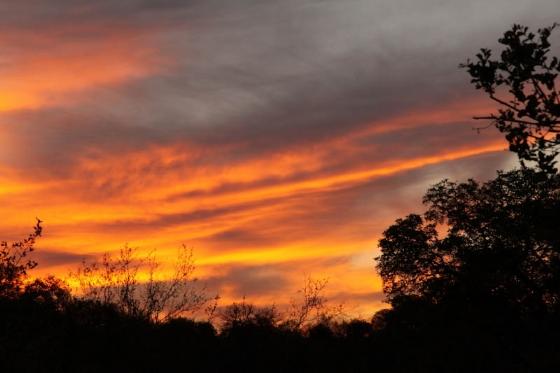 Sunset at Wildebeest dam by Graham Benfield