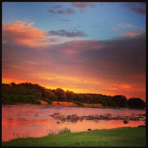 Sunset over the Olifants River on New Years eve by Nicci Cox